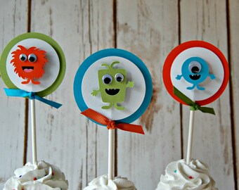 Little Monster Cupcake Toppers (set of 12)