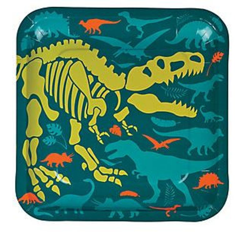 Dino Dig Dinner Plates Dinosaur Party Plates Dinosaur Party image 0