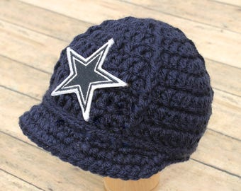 55cd6a1b22394 ... italy baby dallas cowboys cap hat beanie knitted crochet baby gift  newborn photo prop football nfl