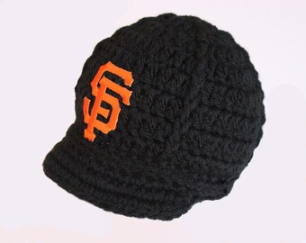 52b10456 Baby San Francisco Giants Cap Hat Outfit Knitted Crochet Baby Gift Newborn  , 0-3 mos, Photo Photography Prop Photo Shoot - Baseball - MLB
