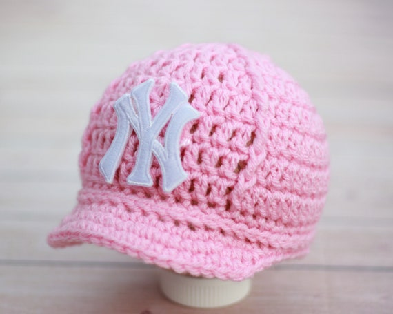 Girls Pink Yankees Baby Hat Cap New York Yankees Baby  f57aef40c0c