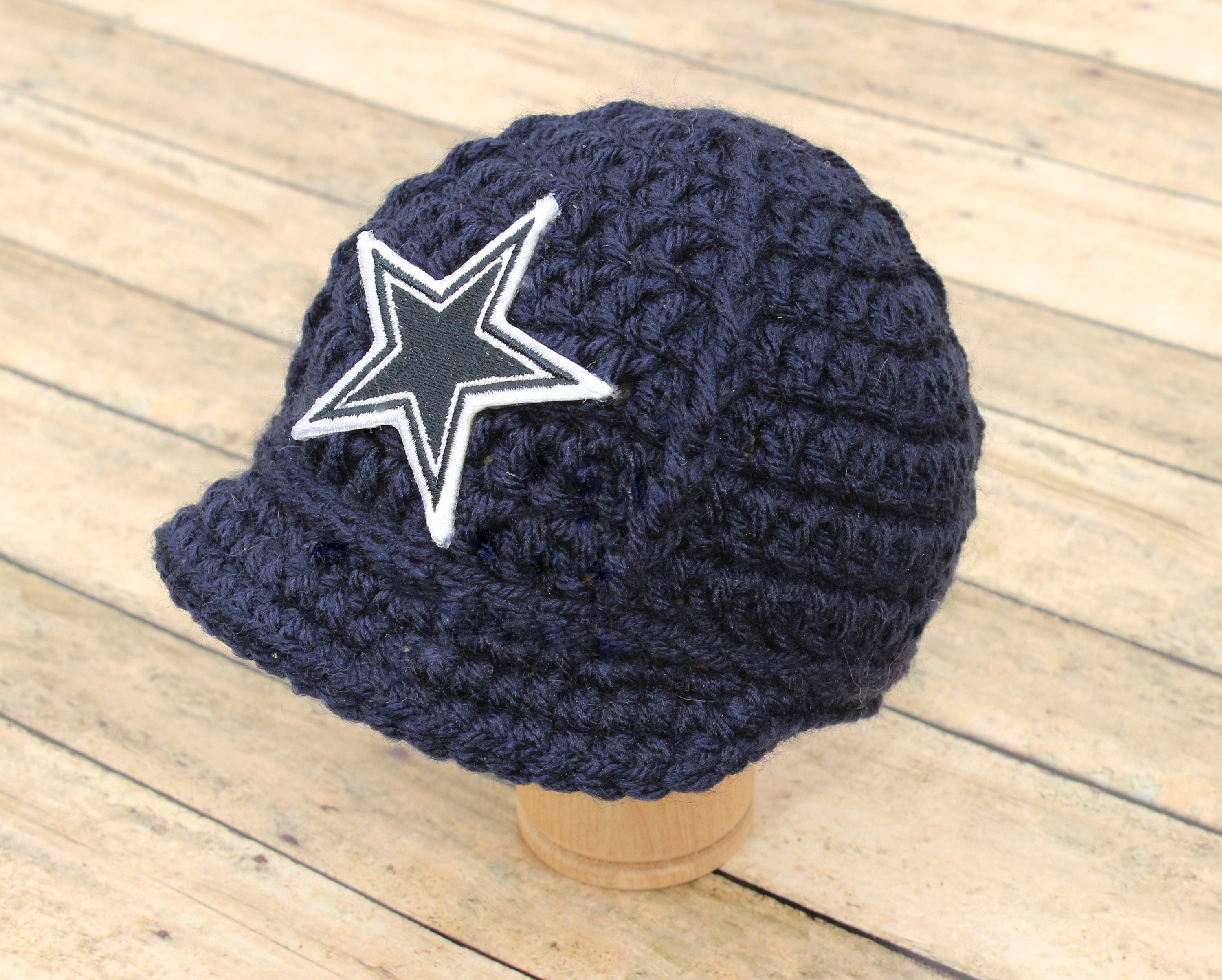 Baby Dallas Cowboys Cap Hat Beanie Knitted   Crochet Baby  6b11e0d5f05