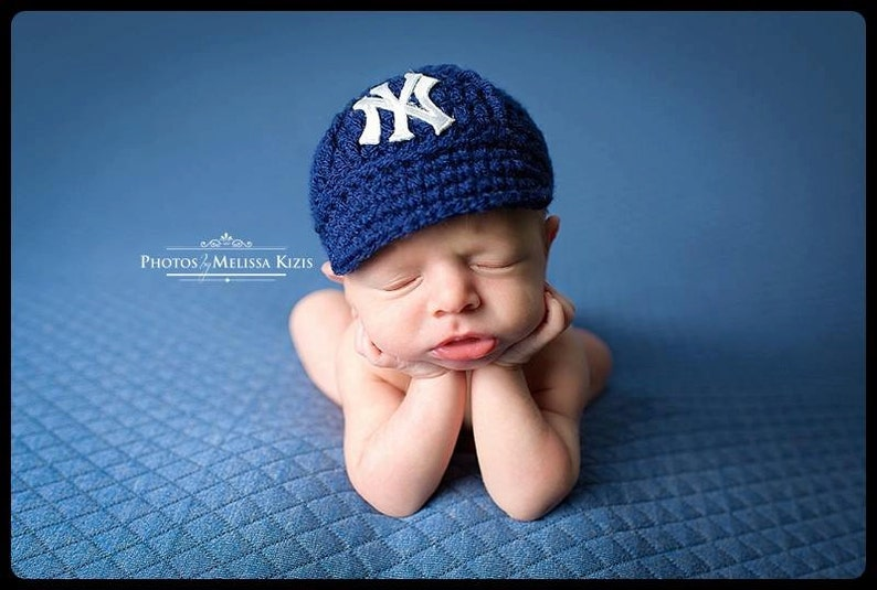 0f71eda44 Yankees Baby Hat Cap New York Yankees Baby Gift / | Etsy