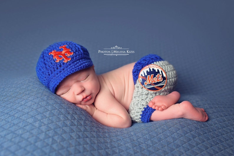 c2006fdf84c Newborn Baby New York Mets Outfit Uniform Set Hat Cap