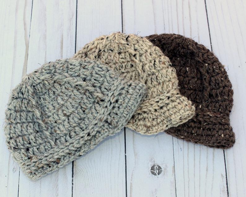 e4ffeda4133 Newborn Baby Boy Knit Hats Tweed Collection Newsboy Hat Cap
