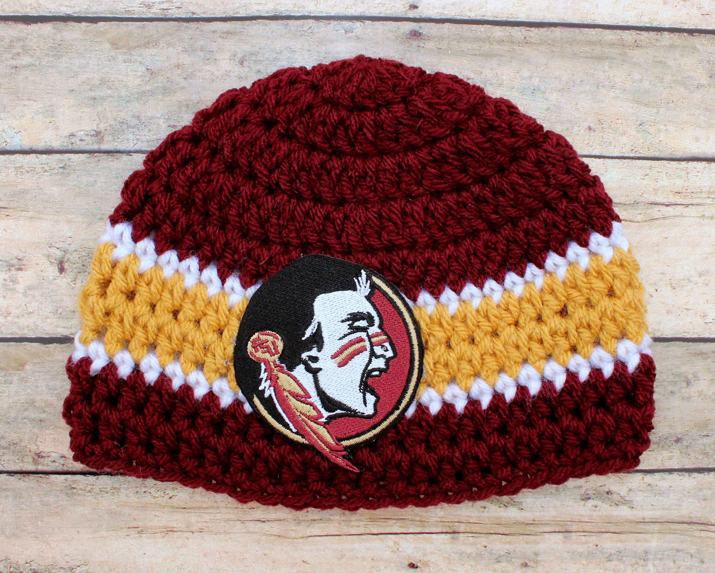 FSU Baby Hat Cap Beanie Knit / Crochet Baby Gift Newborn | Etsy