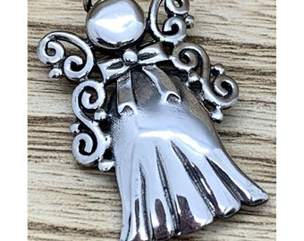 A000100 Sterling Silver Brooch 925 angel