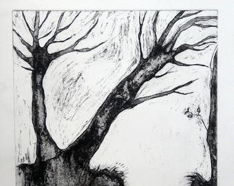 Etching, Two Trees