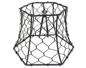 Wire lampshade etsy popular items for wire lampshade greentooth Image collections