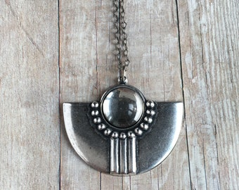 Art Deco Necklace Silver Ox Jewelry