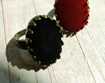 Black Velvet Ring Regal Jewelry