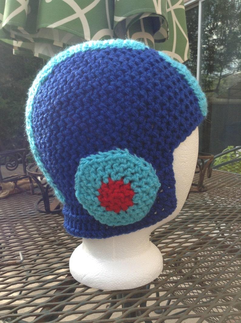Crochet MegaMan Beanie