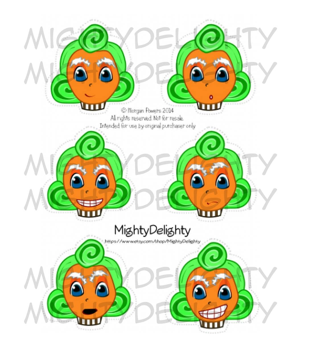 Assorted Oompa Loompa Cupcake toppers Willy Wonka Party | Etsy