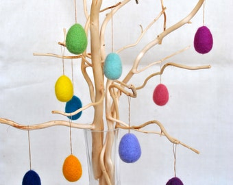 Felted easter 10 miniature eggs Easter tree ornaments spring hostess gift with optional