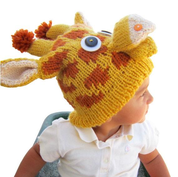 Pattern Knit Giraffe Hat Etsy