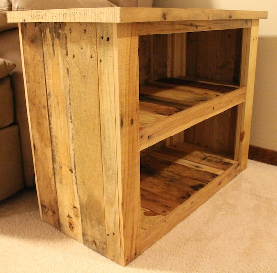 Reclaimed Pallet Wood Furniture Side Table Etsy