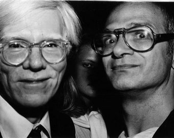 Self Portrait with Andy Warhol:  Limited fine Art Photograph by Allen Brand