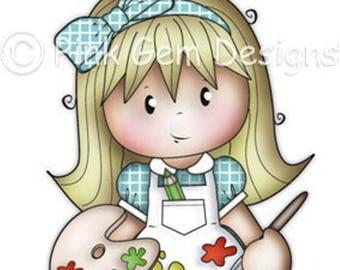 Digi Stamp 'Artistic Jodie'  - Greetings Cards. Invitations etc