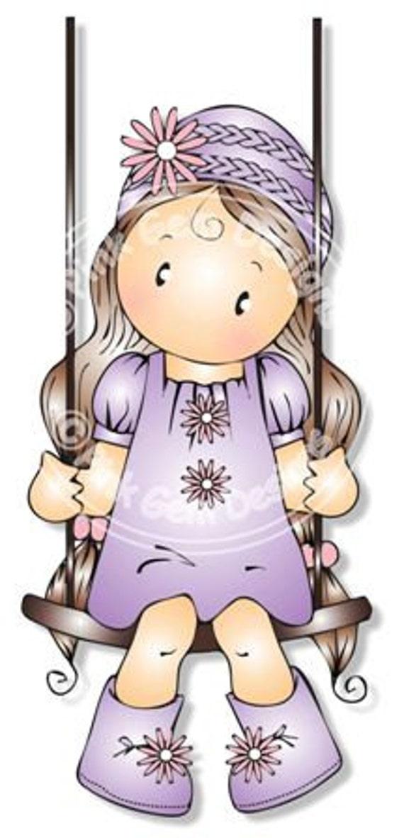 Digital Digi Chloe On Swing Stamp Birthday Mothers Day