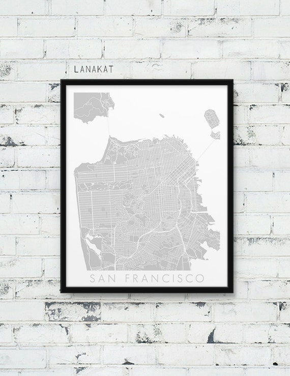 San Francisco Urban Map Print. San Francisco City Street Map Poster. on san francisco street cleaning map, san francisco street map 1960, san francisco city map online, san francisco sacramento street map, san francisco tourist street map, new york tourist map printable, san francisco tourist map printable, san francisco street parking map, san francisco street view,