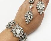 Bridal Couture Statement Earrings-Oval Drop Crystal earrings,Crystal Silver Vintage Earrings,Princess Cut Stones, Swarovski Bridal Earrings