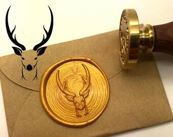 Wax Seal Stamp Snow and Deer Envelope Sealing Wax