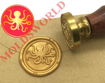 Octopus Tentacle Wax Seal Stamp Octopus Sealing Wax Stamp Gift Box Stamp Package Decoration Wax Sealing Stamp Ocean Wax Seal Stamps