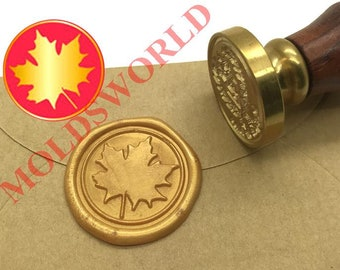 3D Maple leaf Wax Stamp Gift Wrapping Tools Wax Seal Stamp,Invitation Stamp with Handle Embossed Wax Seal Stamp