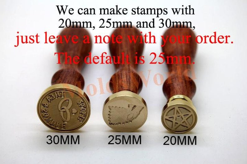 S1151 Alphabet Letter  I  Wax Seal Stamp wax stamp Sealing wax stamp sealing stamp Flower Sytle