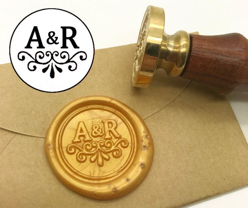 Initials Wax Seal Stamp Personalized Monogram Custom wedding wedding invitation seal custom wedding stamp Sealing Wax stamp