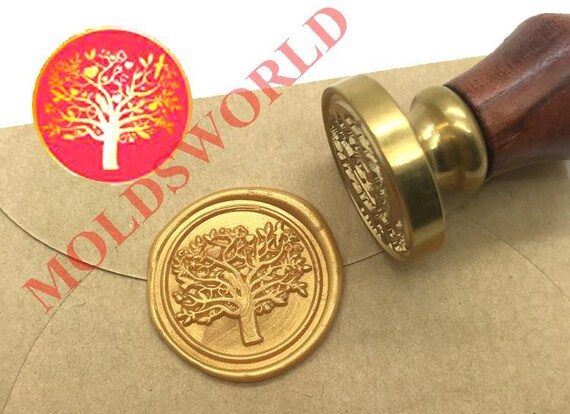 Misty forest Wax Seal Stamp Pine tree Wax Seal Kit wedding Seal StampCustom Seal Stampgalaxy journal seal decor