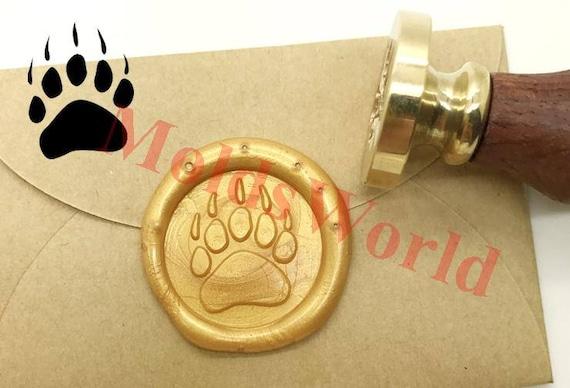 Paw Wax Seal Stamp Kit Wedding Invitation Sealing Wax Stamp Kits Custom Wax Seal Paper C143