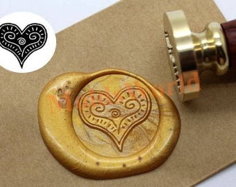 Love Heart Wax Seal Stamp Kit Sealing Wax Kits Custom Wedding Invitation Valentine's Day Wax Seal Gift Box Package S1363