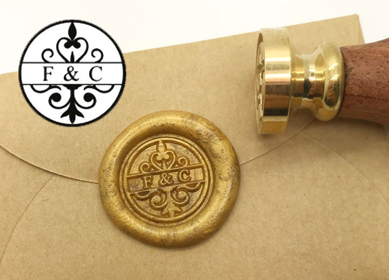 Initials Wax Seal Stamp Personalized Monogram Custom wedding seals wedding invitation seal custom wedding stamp