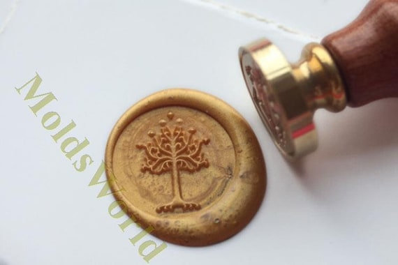 lord of the rings the white tree of gondor wax seal stamp kit etsy