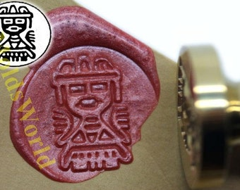 S1033 Mexican Wax Seal Stamp , Sealing wax stamp, wax stamp, sealing stamp