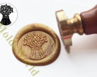 S1218 Wheat Wax Seal Stamp , Sealing wax stamp, wax stamp, sealing stamp