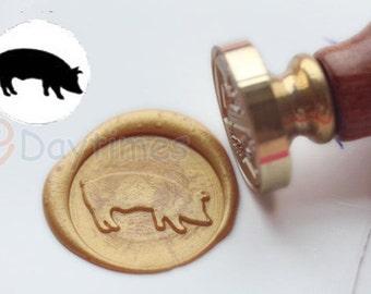 S1276 Pig Wax Seal Stamp , Sealing wax stamp, wax stamp, sealing stamp