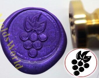 S1093 Grapes Wax Seal Stamp , Sealing wax stamp, wax stamp, sealing stamp