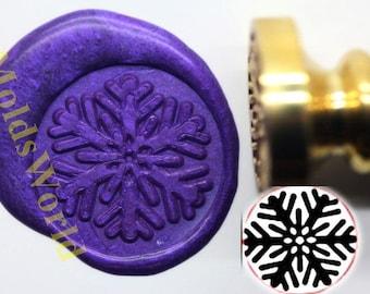 S1097 Snowflake Wax Seal Stamp , Sealing wax stamp, wax stamp, sealing stamp