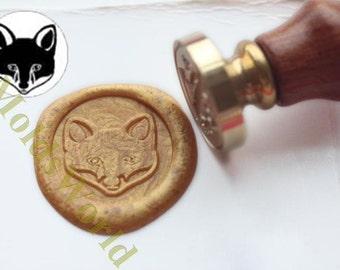S1272 Fox Wax Seal Stamp , Sealing wax stamp, wax stamp, sealing stamp