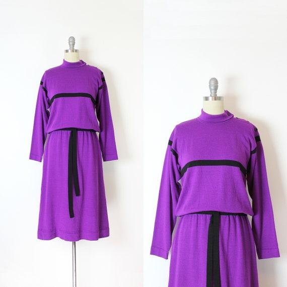 vintage 70s knit dress / 1970s YVES ST LAURENT dre