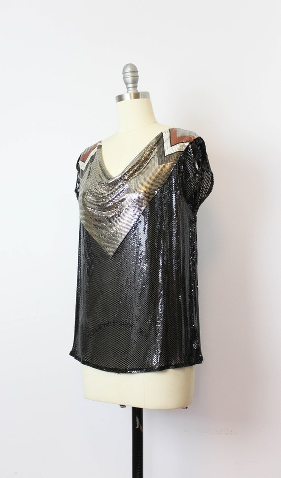 vintage metal mesh shirt / 1980s WHITING and DAVI… - image 3