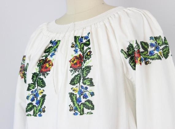 vintage 1940s folk dress / 1940s beaded embroider… - image 6