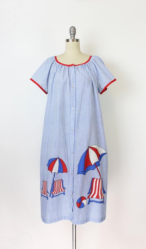 vintage 60s dress / 1960s novelty house dress / s… - image 2