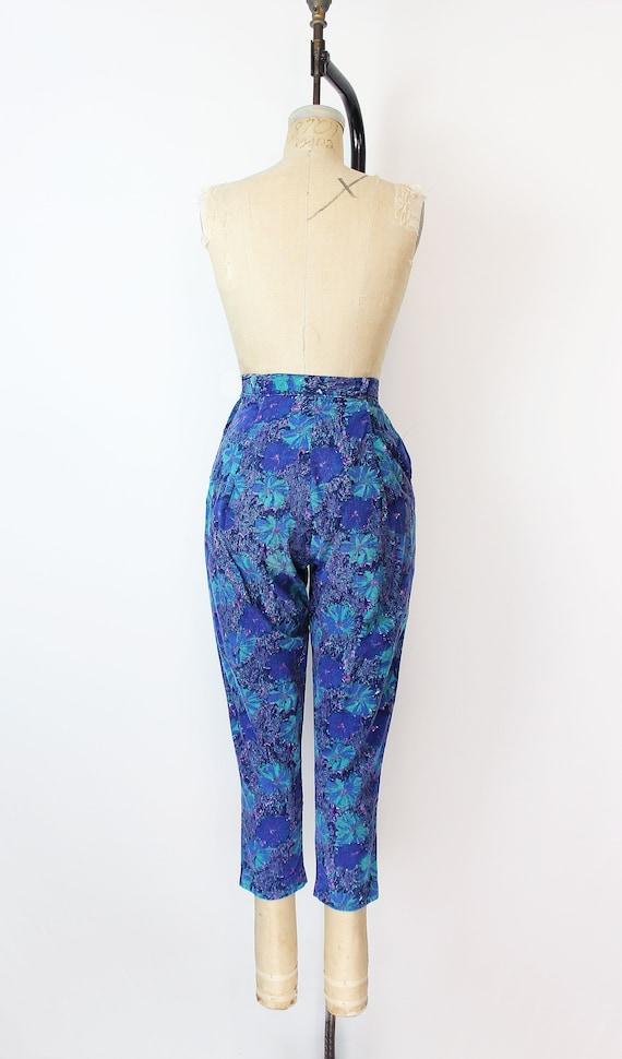 vintage 50s pants / 1950s floral corduroy pants /… - image 4