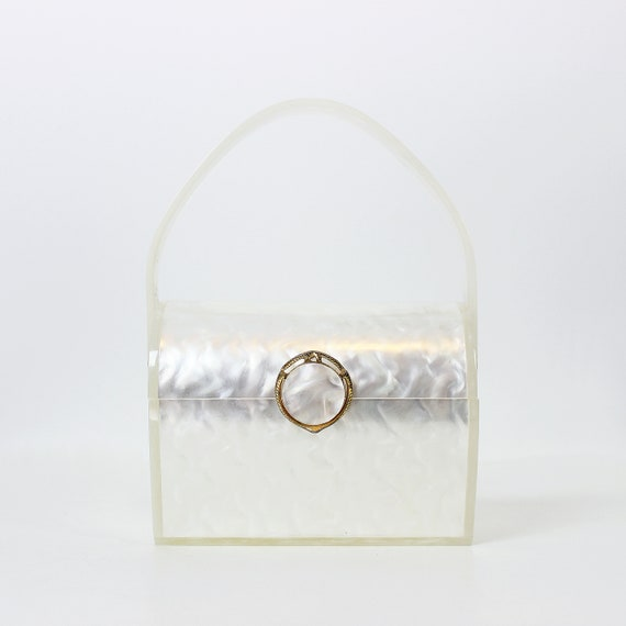 vintage 50s lucite purse / 1950s WILARDY lucite pu