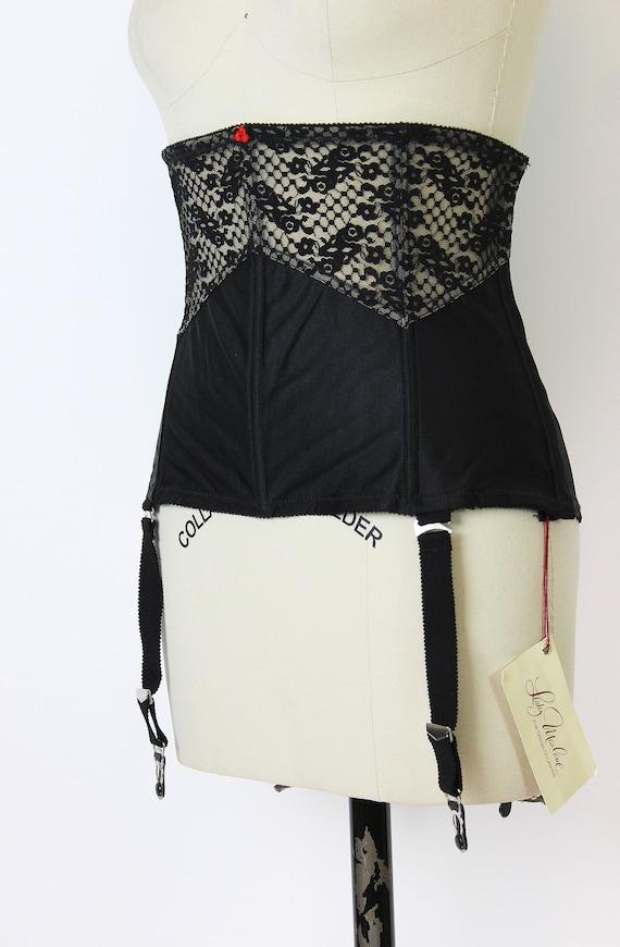 vintage 80s corset / 1980s underbust corset / dea… - image 6