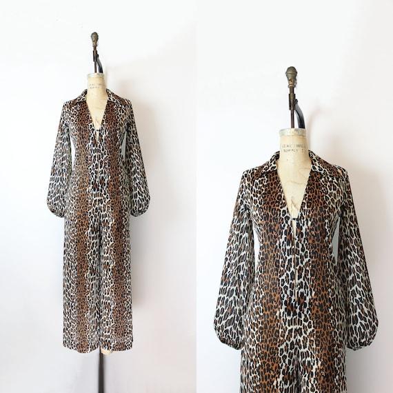 SOLD ON LAYAWAY / vintage 70s jumpsuit / 1970s leo