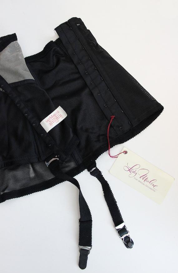 vintage 80s corset / 1980s underbust corset / dea… - image 7